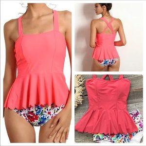 Cupshe Swim - RESTOCKED! Cupshe Floral Bottom Tankini • Size M